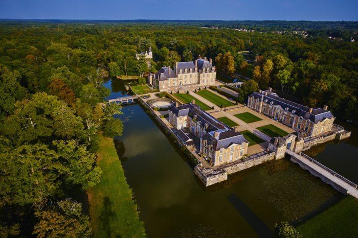 Château de la Ferté St Aubin – vue drone